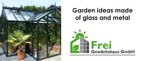 Garden ideas made of glass and metal