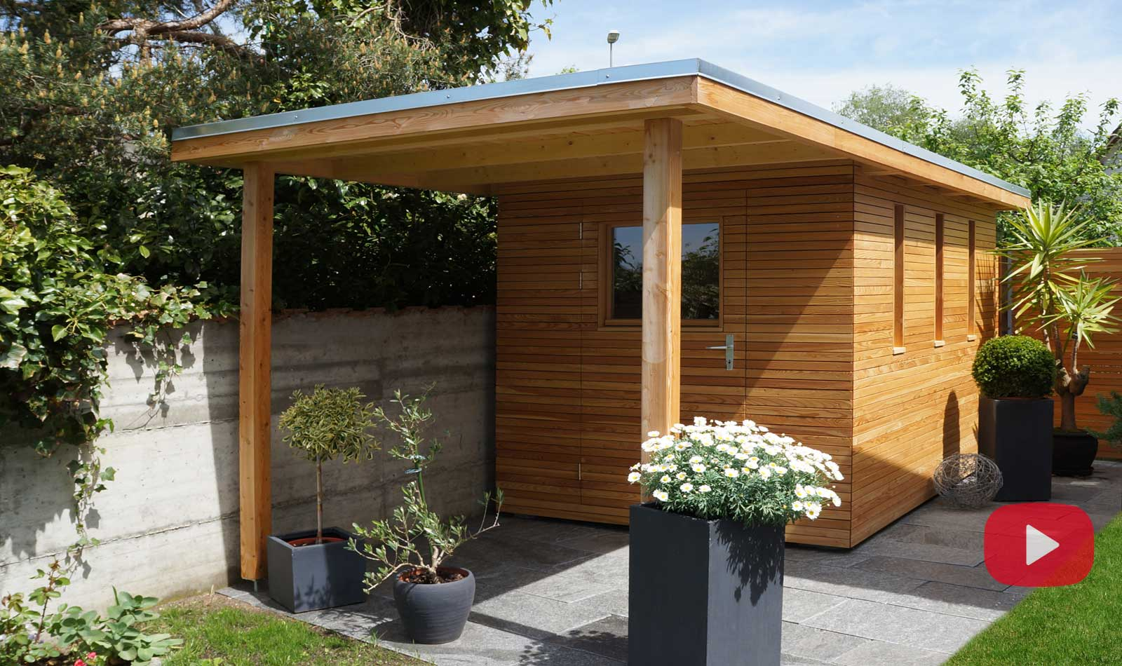 Wooden buildings and garden houses, made in Switzerland by Glovital AG